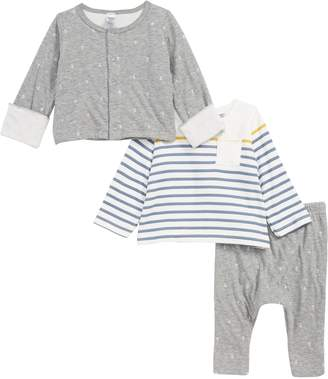 Petit Bateau Tafari Cardigan, Tee & Leggings Set