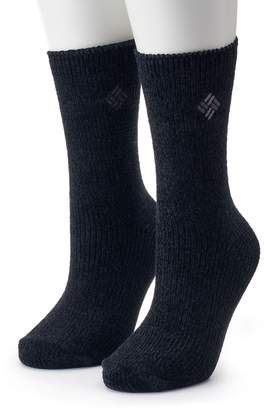 Columbia Women's 2-Pack Chenille Crew Socks