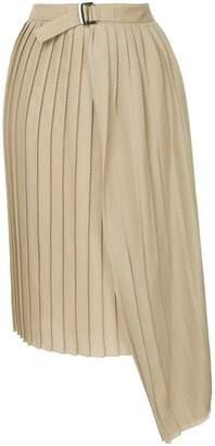 Bassike wrap pleated skirt