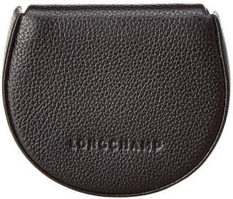 Longchamp Le Foulonne Leather Coin Purse
