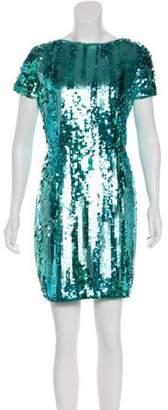 Aidan Mattox Sequin Mini Dress w/ Tags Turquoise Sequin Mini Dress w/ Tags