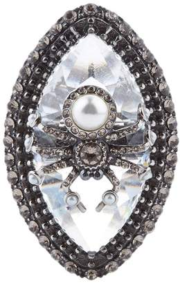 Alexander McQueen Swarovski Crystal Spider Ring