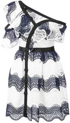 Self-Portrait embroidered wrap dress