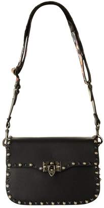 Valentino Leather Rolling Rockstud Shoulder Bag