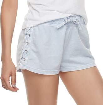 Vanilla Star Juniors' Lace-Up Shorts