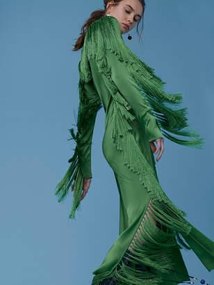 Side Slit Fringe Dress