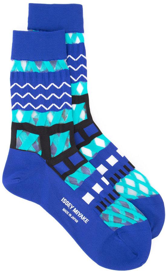 Issey MiyakeIssey Miyake printed socks