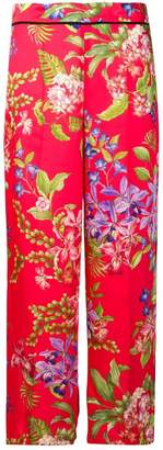 Liu Jo iris floral cropped trousers