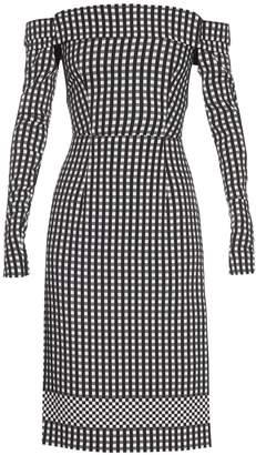 Preen by Thornton Bregazzi Olivia off-the-shoulder gingham dress
