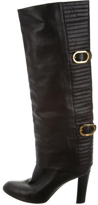 Sergio RossiSergio Rossi Leather Knee-High Boots