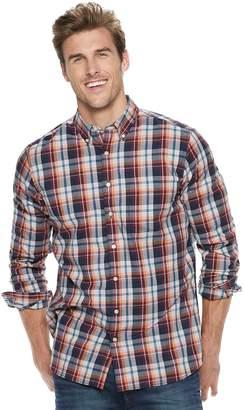 Sonoma Goods For Life Big & Tall SONOMA Goods for Life Flexwear Slim-Fit Poplin Button-Down Shirt