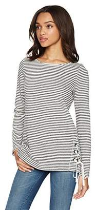 Max Studio Women's Long Sleeve French Terry Top