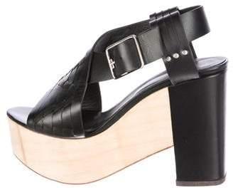 Thakoon Leather Platform Sandals