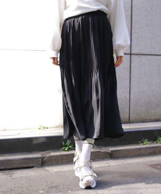Heather (ヘザー) - シフォンプリーツロングスカート