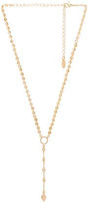 Ettika Circle Lariat in Metallic Gold. $45 thestylecure.com