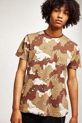 Topman Camouflage Graphic T-Shirt