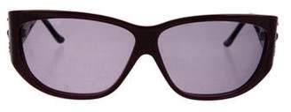 Judith Leiber Embellished Square Sunglasses