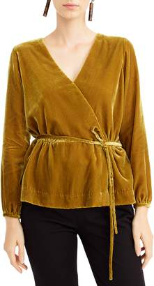 J.Crew Faux Wrap Velvet Top