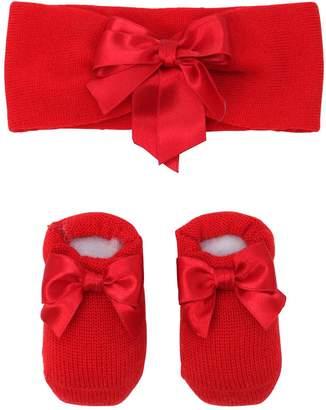La Perla Knit Socks & Headband Set W/ Satin Bow