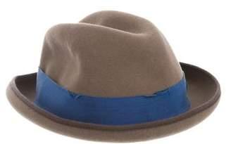 Tracy Watts Distressed Fedora Hat