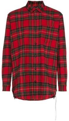Mastermind Japan logo print checked shirt