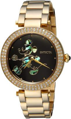 Invicta Women's 'Disney Limited Edition' Quartz and Stainless Steel Casual Watch, Color Gold-Toned (Model: 23789)