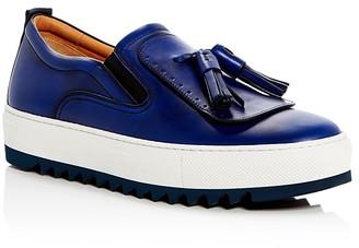 Salvatore Ferragamo Lucca Slip On Platform Sneakers $595 thestylecure.com