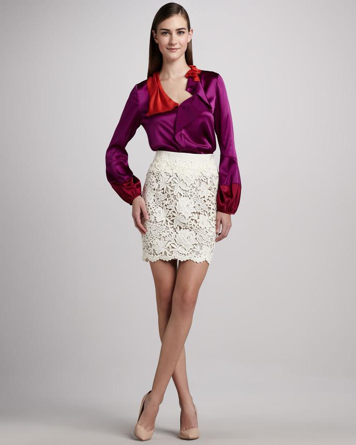 Elie Tahari Bennet Lace Skirt