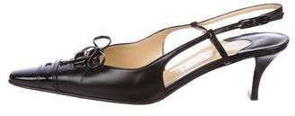 Chanel Slingback Pointed-Toe Pumps