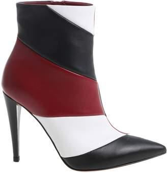 Gianvito Rossi Hadley Striped Panel Boots