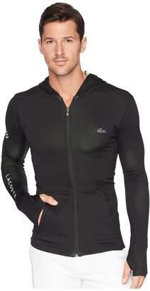 Lacoste Long Sleeve Bicolor Mid Layer Hoodie w/ Contrast Chevron Detail Men's Sweatshirt