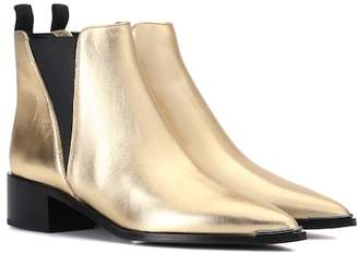 Acne Studios Jensen metallic leather ankle boots