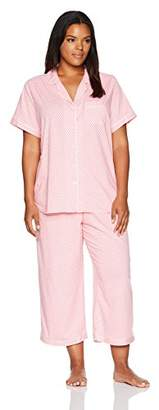 Karen Neuburger Women's Short Sleeve Capri Pajamas Set Pj