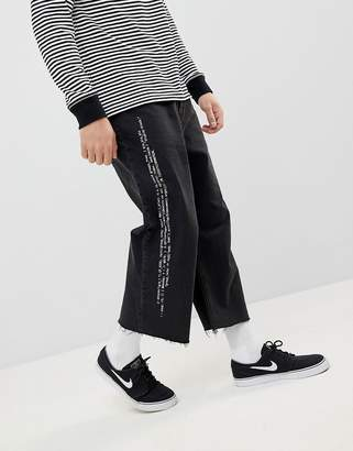 Cheap Monday Bez Cropped Jeans with Pixel Side Stripe