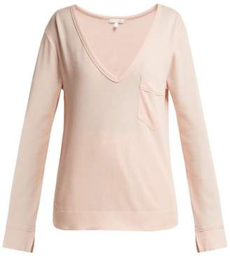 Skin - Aveline Cotton Jersey Pyjama Top - Womens - Pink
