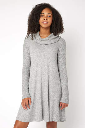 Neely The Brushed Rib Cowl Sweater Dress