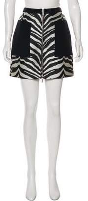 Ungaro Printed Mini Skirt