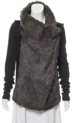 Helmut Lang Rabbit Fur Leather Jacket