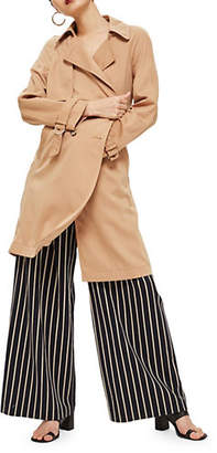 Topshop Double Breasted Trench Coat