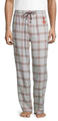 Psycho Bunny Plaid Cotton Pajama Pants