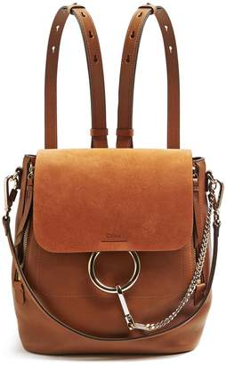 Chloé Faye small suede and leather backpack