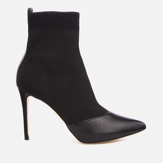MICHAEL Michael Kors Women's Vicky Knitted Heeled Shoe Boots - Black