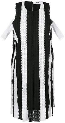 MSGM striped lace dress