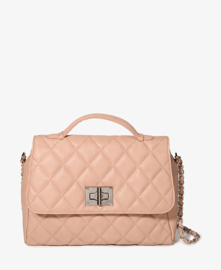 Forever 21 Quilted Chain Strap Satchel