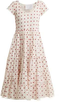 ATHENA PROCOPIOU Romantic floral-embroidered dress