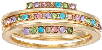 Lauren Conrad Rainbow Simulated Crystal Stack Ring Set