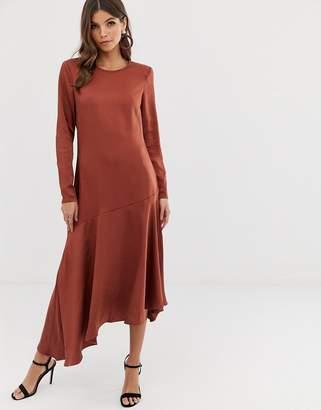 Y.A.S assymetric hem satin dress