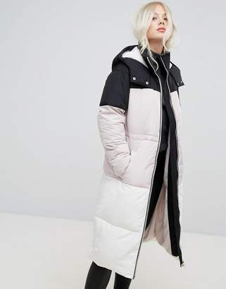 Miss Selfridge Overszied Color Block Padded Jacket