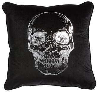 Levtex Skull Velvet Accent Pillow