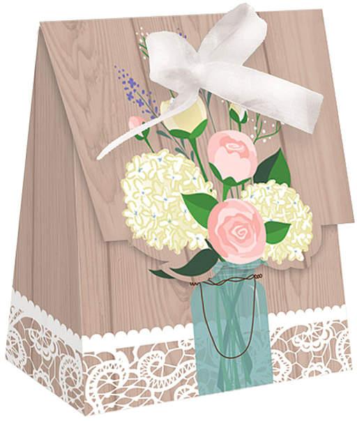 Rustic Wedding Favor Bag - Set of 24